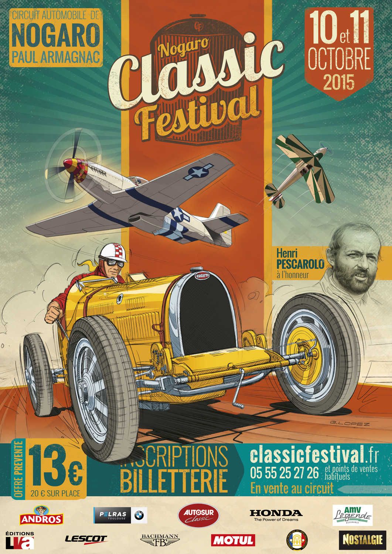 Nogaro Classic Festival CF15-Affiche